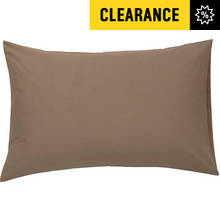 Argos Home Pair of Housewife Pillowcases - Cafe Mocha