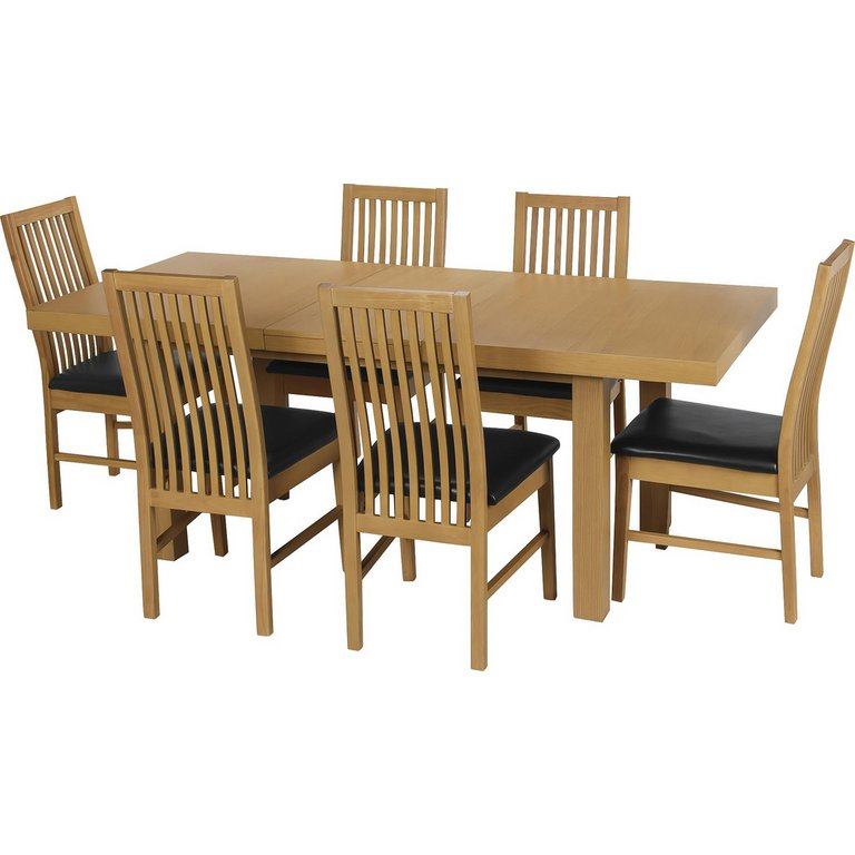 Buy Collection Franklin Ext Dining Table amp 6 Chairs Oak  : 1375497RSETMain768ampw620amph620 from www.argos.co.uk size 620 x 620 jpeg 40kB