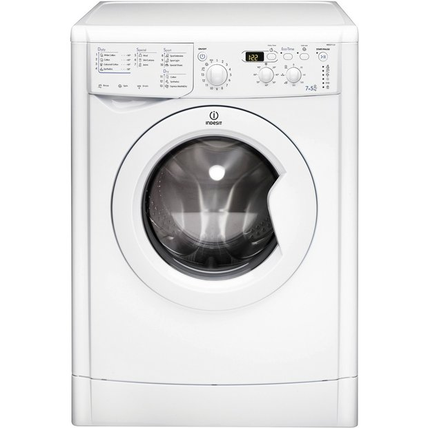Buy Indesit Eco-Time IWDD7123P Freestanding Washer Dryer - White ...