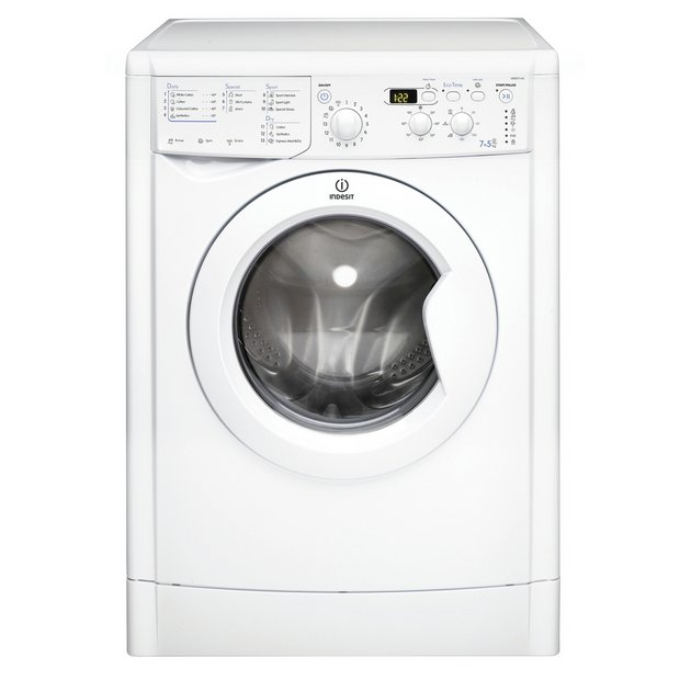 Buy Indesit Eco-Time IWDD7143P Freestanding Washer Dryer - White ...