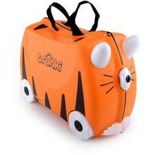 Trunki Tipu Tiger Ride-On Suitcase - Black/Orange.
