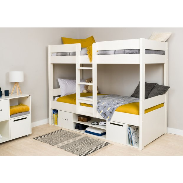 Buy Stompa Bunk Bed With Storage And Mattress White Kids Beds Argos