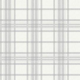 Superfresco Easy Country Tartan Silver Wallpaper