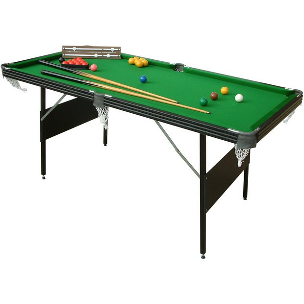 Buy mightymast crucible 6ft foldup snooker pool table at for Garden pool argos