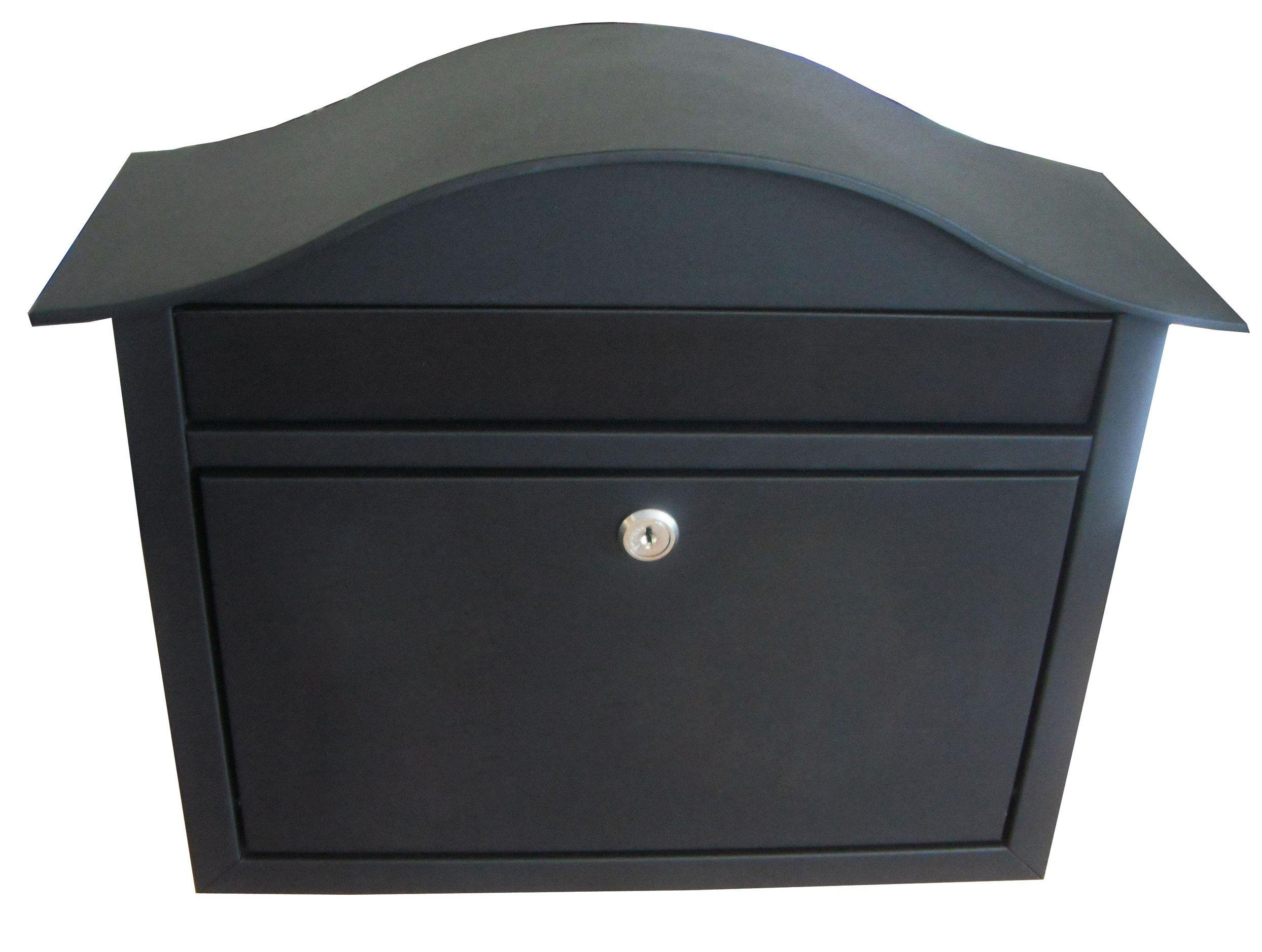 Dublin Large Capacity Black Lockable Letter Box