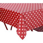more details on HOME PVC Red Polka Dot Table Cloth.