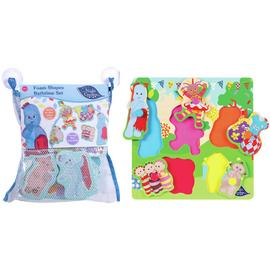 In The Night Garden Bath Set and Wooden Puzzle Bundle
