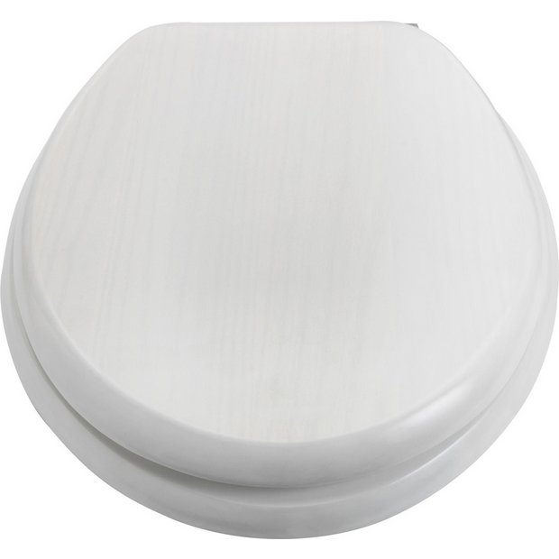 Buy Collection Solid Wood Slow Close Toilet Seat White