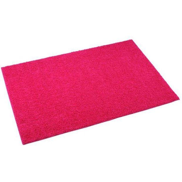 Buy Bright Pink Fiji Machine Washable Rug