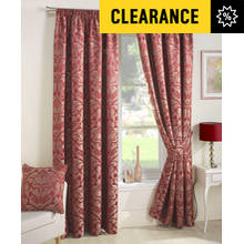 Curtina Crompton Lined Curtains - 117x137cm - Red