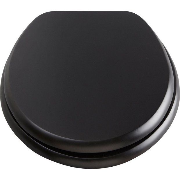 grey soft close toilet seat. Buy Collection Solid Wood Slow Close Toilet Seat  Black at Argos co uk Your Online Shop for seats Bathroom accessories Home furnishings