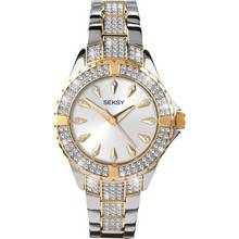 Seksy Intense Ladies' Stone Set Two Tone Bracelet Watch