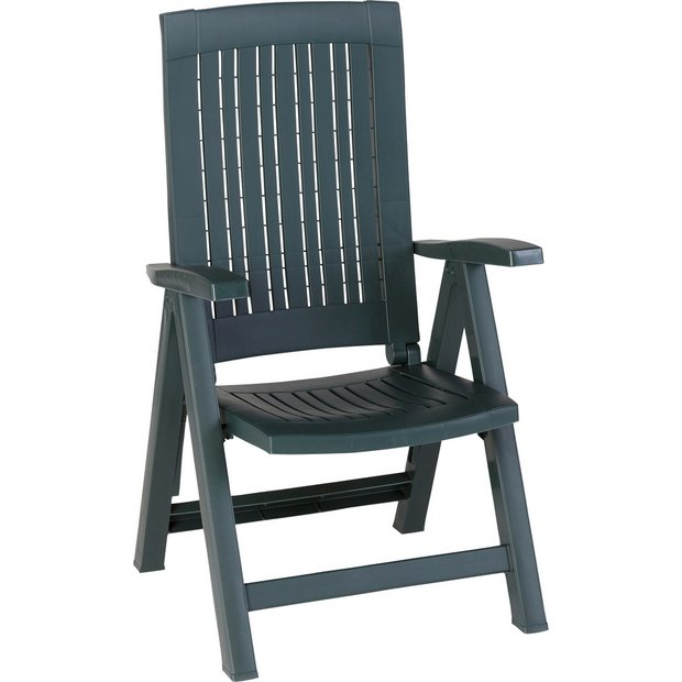 Buy Resin Recliner Chair Green At Your Online Shop For Garden Chairs And Sun