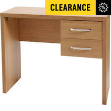 Jarvia 2 Drawer Office Desk - Oak Effect