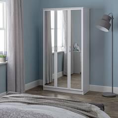 030375968f5 Argos Home Cheval 3 Door Mirrored Wardrobe