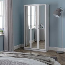 Argos Home Cheval 3 Door Mirror Wardrobe