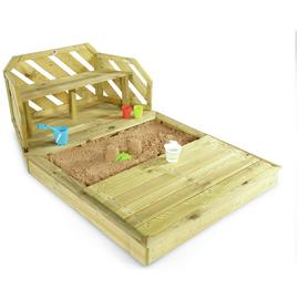 Plum Premium Wooden Sand Pit and Bench.