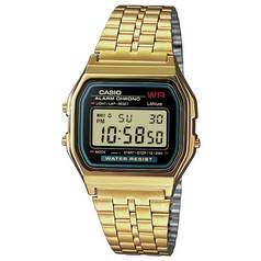 Casio Gold Stainless Steel Bracelet LCD Watch