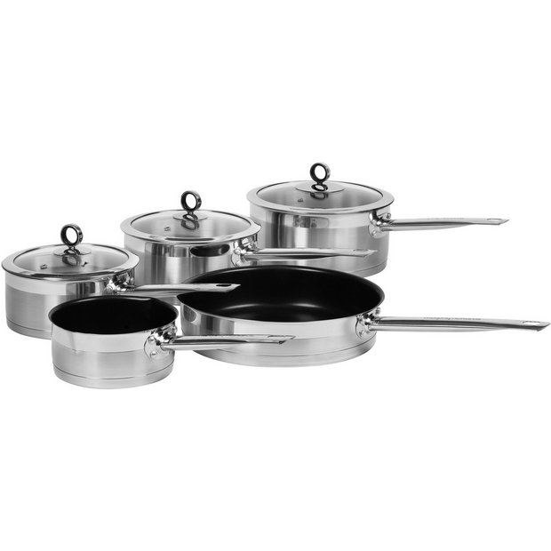 Buy morphy richards accents 5 piece pan set stainless for Kitchen set argos