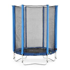 Plum Junior Trampoline with Enclosure - Blue