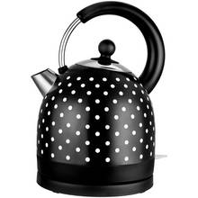 Kalorik Classic Polka Dot S/Steel Kettle - Black & White