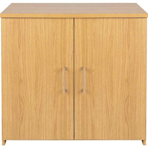 Buy home walton 2 door cupboard oak effect at for Argos kitchen cabinets