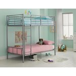 more details on HOME Maddison Single Bunk Bed Frame - Silver