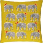 more details on Habitat Topsy Elephant Pattern Cushion - Yellow.