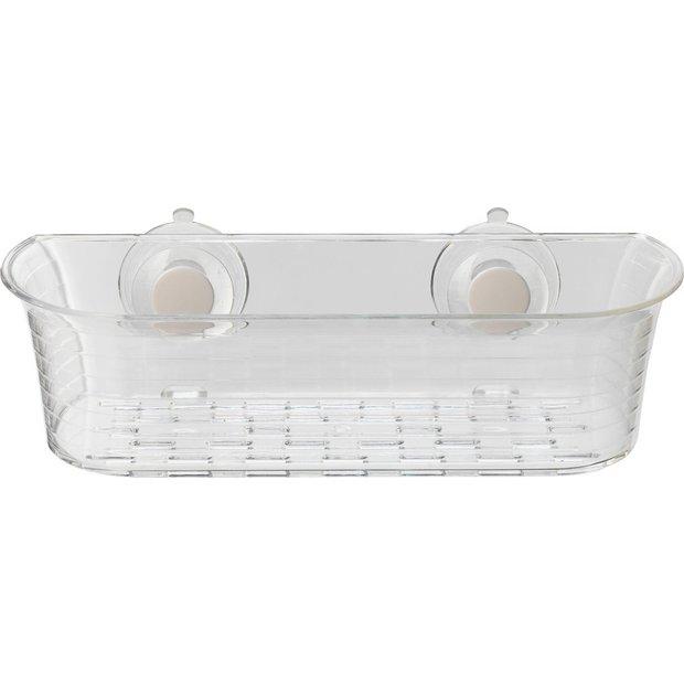 buy croydex press 39 n 39 lock storage basket clear at argos. Black Bedroom Furniture Sets. Home Design Ideas