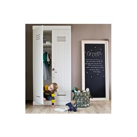 Woood Connect White 2 Door Wardrobe