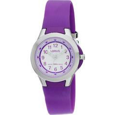 Lorus Ladies' Purple Analogue Strap Watch