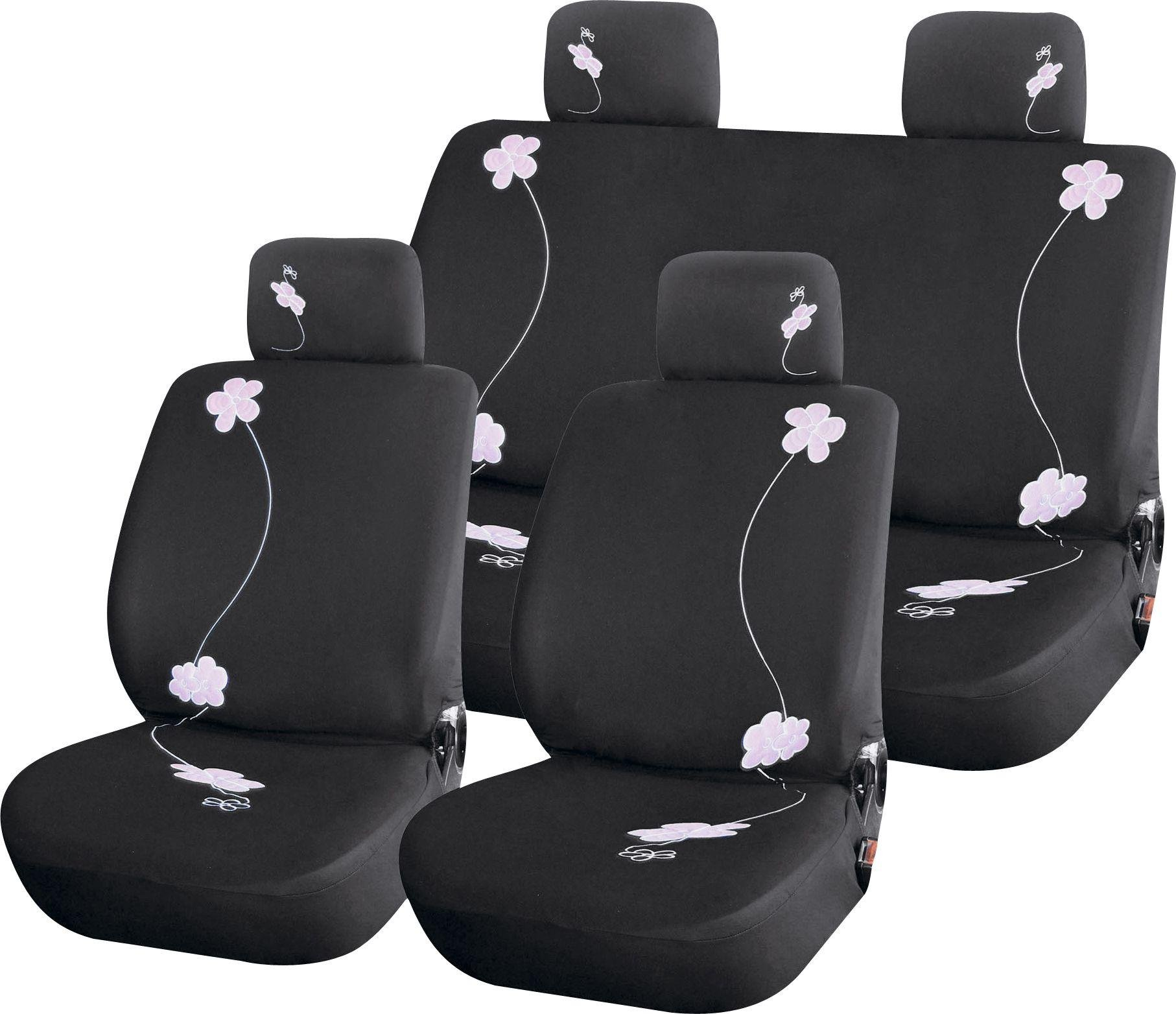 Streetwize Car Seat Covers   Pink Flowers