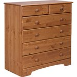 more details on HOME Nordic 4+2 Drawer Chest - Pine.