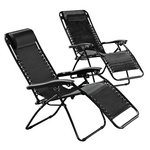 more details on HOME Reclining Sun Loungers - Set of 2.