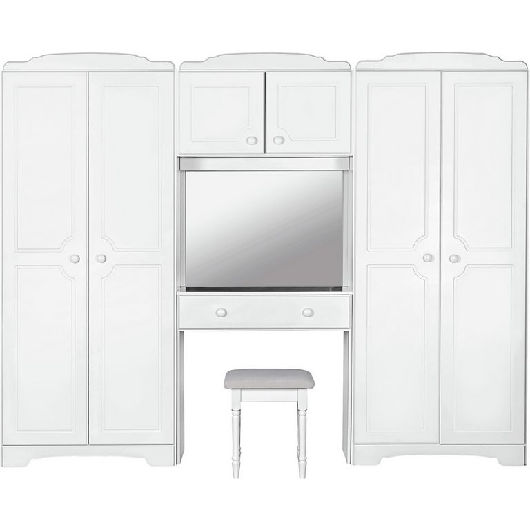 Buy Home Nordic Wardrobe Fitment Mirror And Stool White