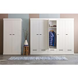 Woood Connect White 2 Door 2 Drawer Wardrobe