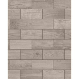 Contour Wooden Tile Brown Wallpaper