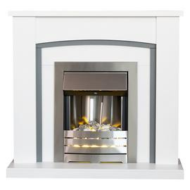 Adam Chilton Electric Fire Suite with Helios - White