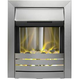 Adam Helios Electric Inset Fire - Brushed Steel