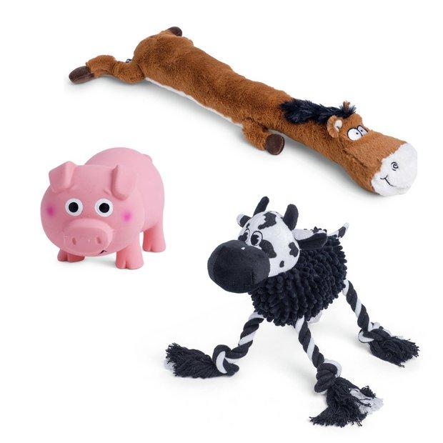 Buy Petface Farm Yard Fun Animals Dog Toys | Dog toys | Argos