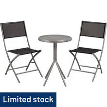 HOME Kara 2 Seater Metal Bistro Set
