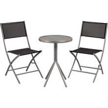 Kara 2 Seater Garden Bistro Set - Black