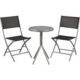 Argos Home Kara 2 Seater Metal Bistro Set - Black & Silver