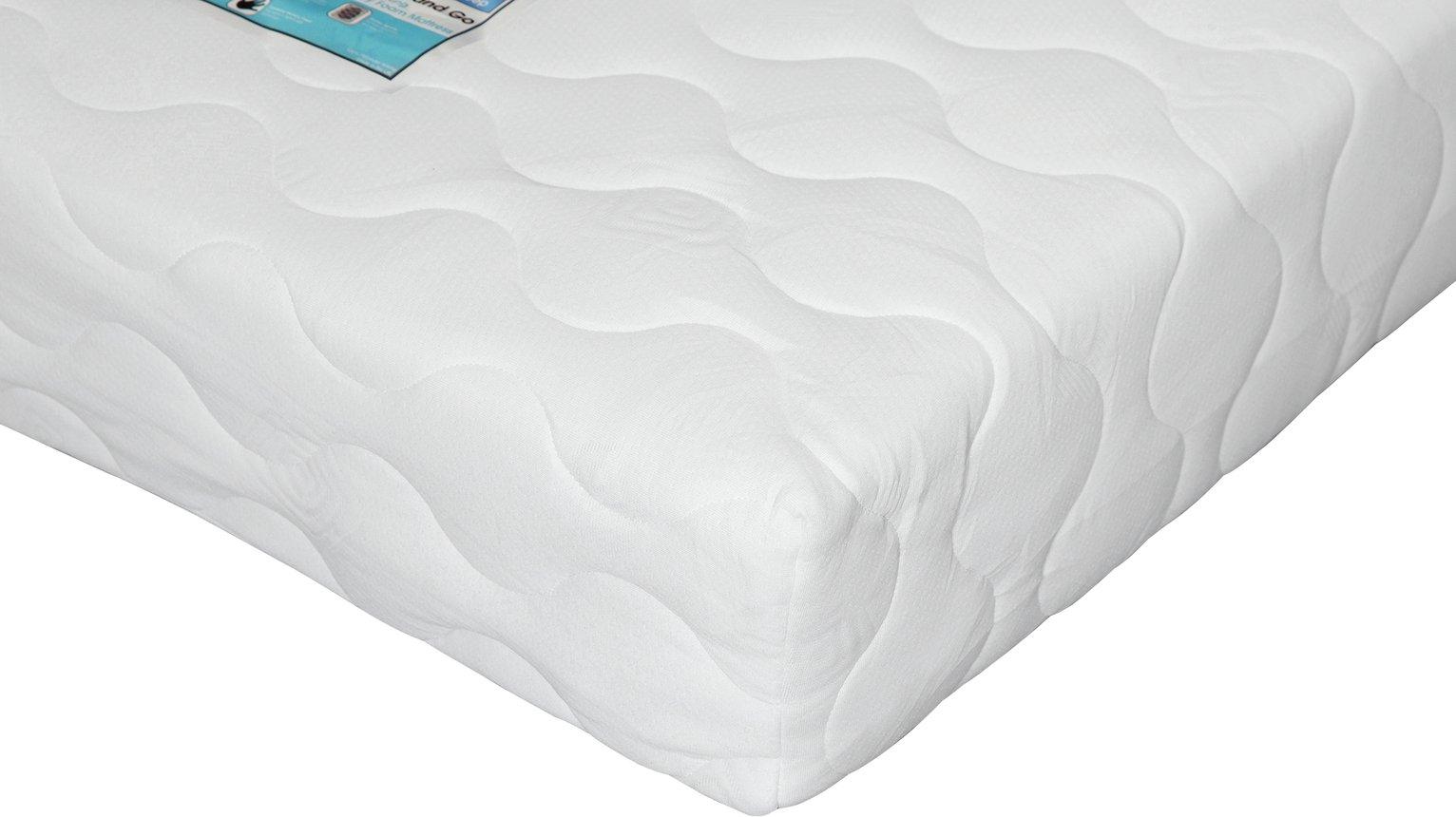 isleep collect and go pocket single memory foam mattress