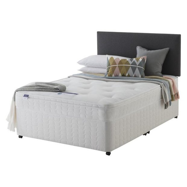Buy Silentnight Miracoil Travis Ortho Double Divan Bed At Your Online Shop For