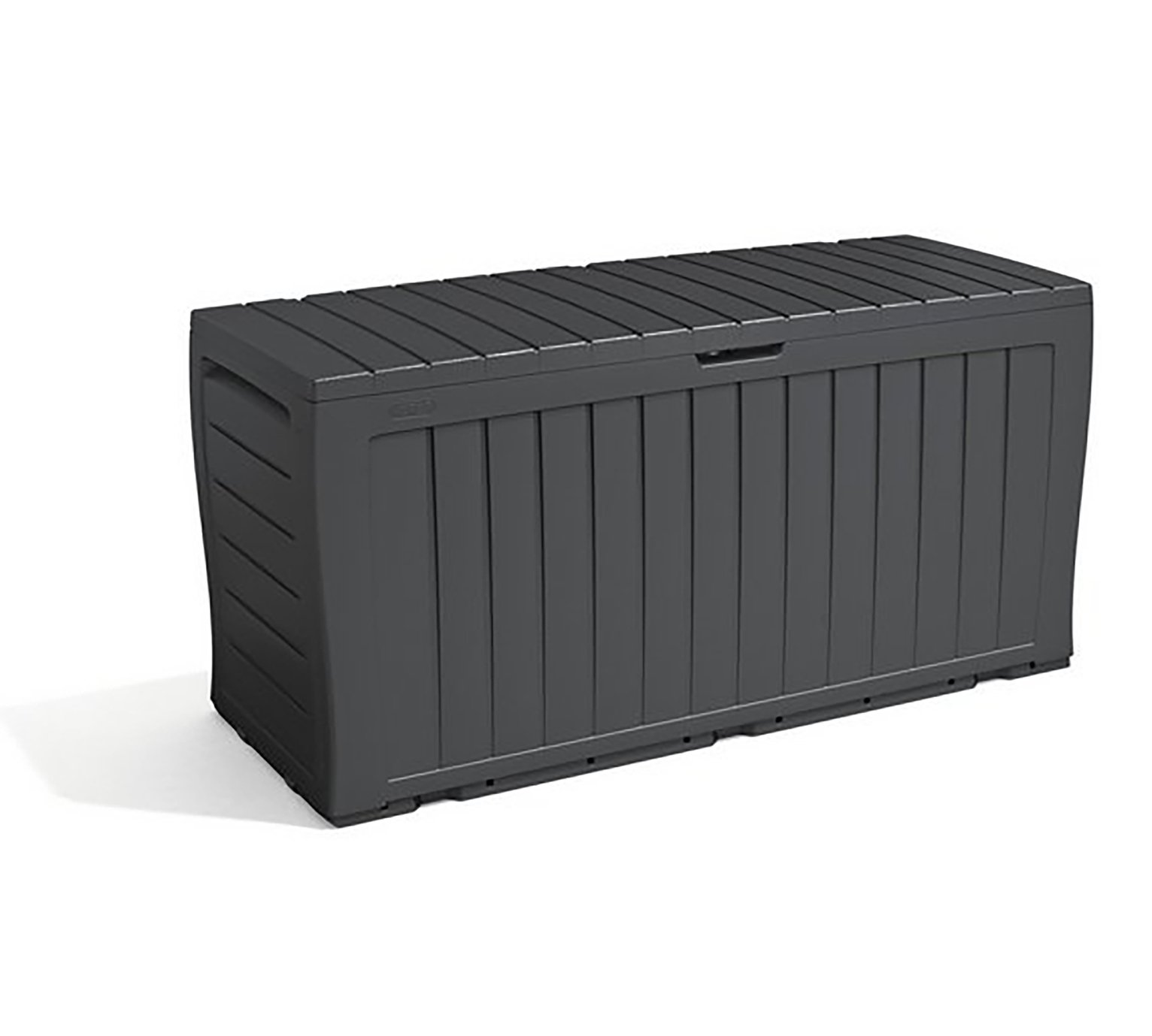 Keter Wood Effect Garden Storage Box   Grey