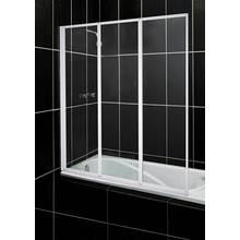 Aqualux Fully Framed White 3 Fold Bath Shower Screen