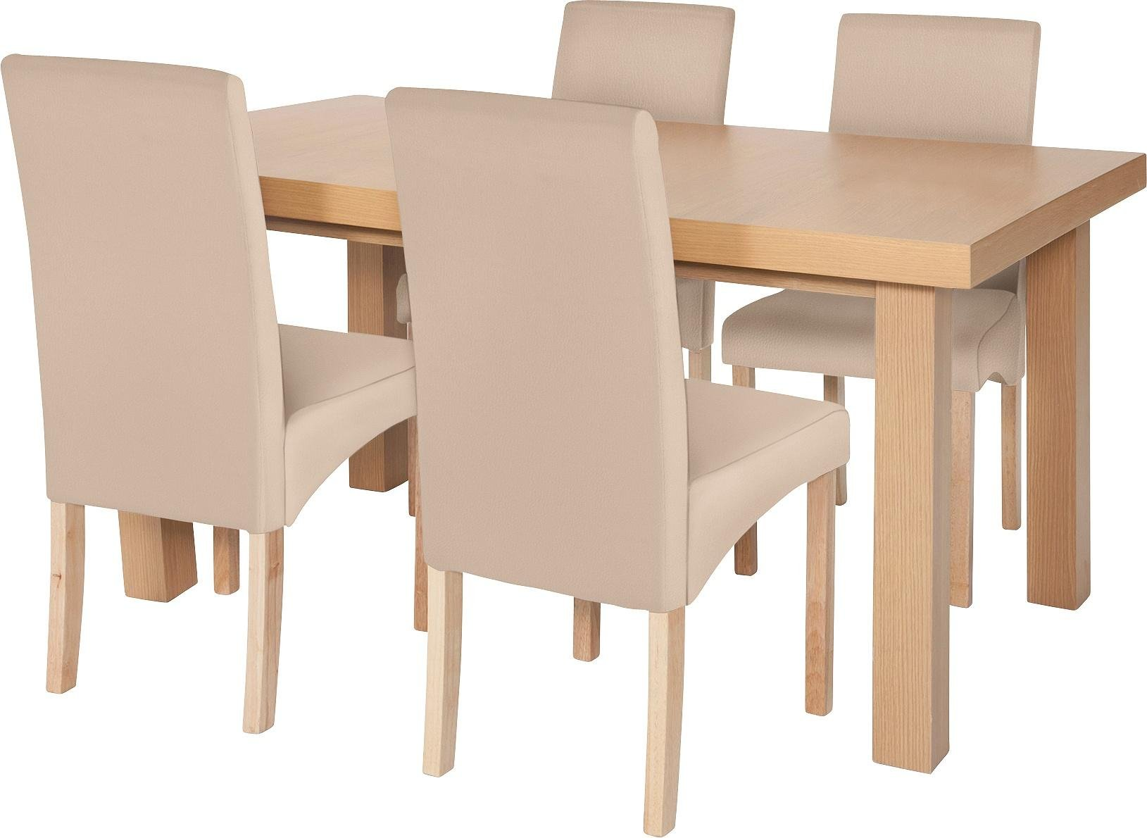cosgrove extendable oak dining table and 6 charcoal chairs. collection cosgrove extendable table \u0026 4 chairs - cream oak dining and 6 charcoal b