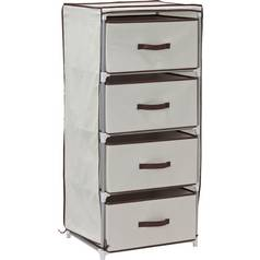 Argos Home Metal and Polycotton 4 Drw Storage Unit - Cream