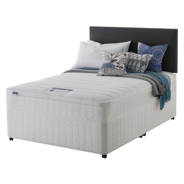 Buy silentnight miracoil travis cushiontop superking divan for Silentnight divan